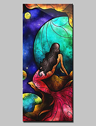 Large Size Hand Painted Mermaid Oil Paintings On Canvas Modern Abstract Wall Art With Stretched Frame Ready To Hang