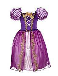 preiswerte -a-line Knöchel Länge Blumenmädchen Kleid - Organza kurzen Ärmeln Juwel Hals mit Stickerei von ydn