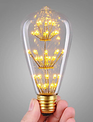 cheap -3W E27 LED Filament Bulbs ST64 47 leds COB Decorative Warm White 360lm 2300K AC 220-240V