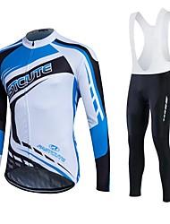 Fastcute Maglia da ciclismo Per uomo Per donna Unisex Manica lunga Bicicletta Felpa Tuta da ginnastica Giacche in pile / Fleece