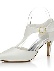 cheap -Women's Shoes Silk Spring Summer Heels Stiletto Heel for Wedding Dress Party & Evening Beige