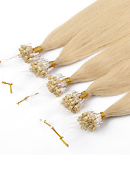 baratos -PANSY Micro Extensão em Anel Extensões de cabelo humano Liso Tecido