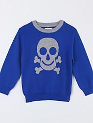 povoljno -Pamuk Jednobojni Dnevno Jesen Džemper i kardigan Plava