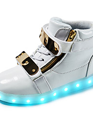 LED Light Up Shoes,Boy's Boots Spring / Fall / Winter Fashion Boots Synthetic Outdoor / Casual Flat Heel Buckle Silver / Gold