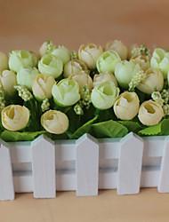 Set of 1 PCS 1 Une succursale Polyester Roses Fleur de Table Fleurs artificielles 2.7