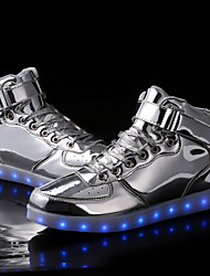 cheap -LED Light Up Shoes , Unisex Sneakers Spring / Fall / Winter Fashion Boots Synthetic Outdoor Casual Flat Heel Silver / Gold