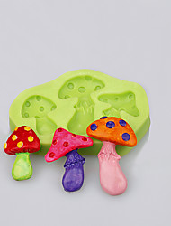 The three cavity mushroom shape mold for fondant cake cookie tools decoration baking ware food grade silicone mold