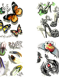 cheap -8 Designs Big 3D Waterproof Temporary Tattoos Sticker Tattoo for Body Accessories 26*15cm (Assorted Pattern)