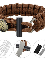 cheap -Paracord Bracelet / Multitools - Fire Starter Tactical, Emergency, Military for Camping / Hiking / Fishing / Outdoor - Stainless Steel / Nylon / Alloy 1 pcs FURA