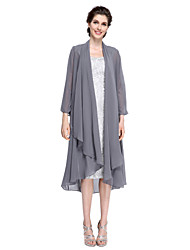 cheap -Chiffon Wedding Party Evening Women's Wrap With Wave-like Coats / Jackets