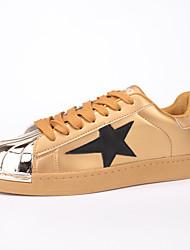cheap -Men's Sneakers Board Shoes Casual/Travel/Outdoor Fashion Microfiber Shoes EU39-EU44 Gold Blue Black