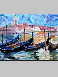 abordables -Pintada a mano Abstracto / Paisajes Abstractos Pinturas de óleo,Modern Un Panel Lienzos Pintura al óleo pintada a colgar For Decoración