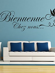 cheap -AYA DIY Wall Stickers Wall Decals French Words & Quotes Stickers
