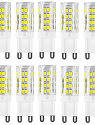 abordables -HKV 10pcs 4W 400-500lm G9 Luces LED de Doble Pin T 51 Cuentas LED SMD 2835 Impermeable Decorativa Blanco Cálido Blanco Fresco 220-240V