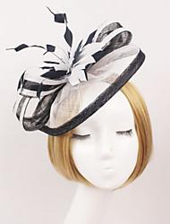 povoljno -Til Čipka Perje Tekstil Net Trake za kosu Fascinators 1 Vjenčanje Special Occasion Vanjski Glava