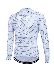 cheap -Sports Cycling Jersey Men's Long Sleeve Thermal / Warm / Windproof Bike Tops Fleece Classic Winter Cycling/Bike