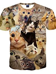 economico -T-shirt Per uomo Sport Con stampe, Animali