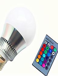 Недорогие -1шт 8 W 350-450 lm E14 / GU10 / E26 / E27 Умная LED лампа G80 1 Светодиодные бусины Integrate LED Диммируемая / На пульте управления / Декоративная RGB 85-265 V / 1 шт. / RoHs