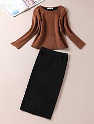 preiswerte -Damen T-shirt - Solide Buchstabe, Pailletten Rock