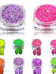 cheap -3g Nail Cheese Glitter Dust Powder Nail Art Tips Pigment Decorations Nail Powder Dust for Women DIY SN01-08