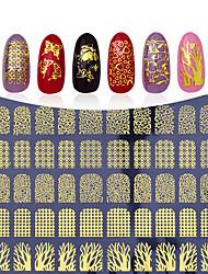 povoljno -1pcs 3D naljepnice za nokte Predložak za žigosanje Dnevno Moda Visoka kvaliteta