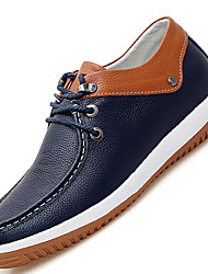 Men's Oxfords Spring / Summer / Fall / Winter Comfort Cowhide / Leather Casual Flat Heel Lace-up Blue / White