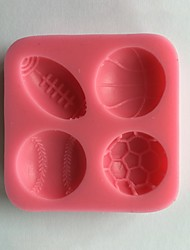Sports Ball Silicone Cake Mold,Baking Tool DIY Fresh Style 1pc