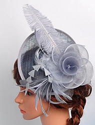 cheap -Lace Organza Satin Net Fascinators Birdcage Veils 1 Wedding Special Occasion Outdoor Headpiece