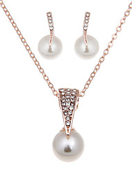 cheap -Women's Jewelry Set - Imitation Pearl Vintage, Fashion Include Necklace / Earrings / Bridal Jewelry Sets Gold For Wedding / Party / Daily / Casual