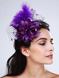 Недорогие -перьевые чистые факсимиляторы головной убор элегантный классический женский стиль