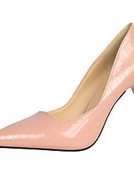 Damen-High Heels-Kleid-Kunstleder-Stöckelabsatz-Komfort-Schwarz / Braun / Rosa / Rot / Weiß / Silber / Gold / Champagner