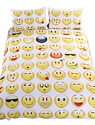 cheap -Hot Sale Emoji Bedding Set Interesting and Fashion Duvet Cover for Young People New Year Bed Sheets 3Pcs Twin Full Queen