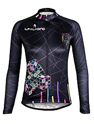 ILPALADINO Cycling Jersey Women's Long Sleeves Bike Jersey Top Quick Dry Ultraviolet Resistant Breathable Compression Lightweight
