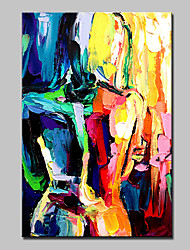 Hand Painted Abstract Naked Woman Oil Painting On Canvas Wall Art For Home Decoration With Stretched Framed
