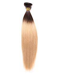 Недорогие -Индийские волосы Яки Натуральные волосы Человека ткет Волосы Ткет человеческих волос Расширения человеческих волос / 8A