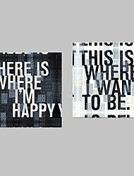cheap -Print Stretched Canvas Print Canvas Set - Words & Quotes Modern
