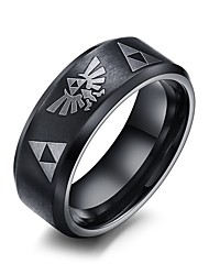 cheap -Men's Statement Ring Black Titanium Personalized Hip-Hop Rock Punk Christmas Gifts Wedding Party Daily Casual Costume Jewelry