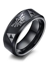 preiswerte -Herrn Statement-Ring - Personalisiert Hip-Hop Rock Punk Schwarz Ring Für Weihnachts Geschenke Hochzeit Party Alltag Normal