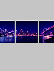 cheap -LED Canvas Art Landscape Architecture Square Print Wall Decor Home Decoration