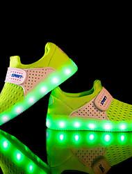 economico -Per bambino-Sneakers-Sportivo-Comoda Light Up Shoes-Piatto-Tulle Tessuto-Nero Blu Verde Rosso Grigio