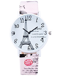 cheap -Women's Fashion Cool Quartz Casual Watch Leather Belt Eiffel Tower Round Alloy Dial Watch Unique Watch