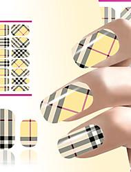 quente prego vendas da arte do prego de transferência de água decoração pregos adesivo envolve manta amarela decalques design de unhas
