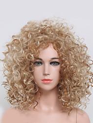 Femme Perruque Synthétique Sans bonnet Court Ondulés Blonde Noir perruque Perruque Déguisement