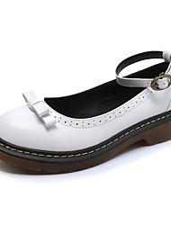 Women's Oxfords Comfort / Round Toe / Closed Toe Casual Low Heel Bowknot / BuckleBlack / Yellow /