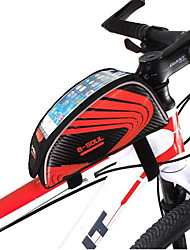 cheap -Mountain Bike Tube Package Bag Color Double Saddle Bag Before Smart Large-screen Mobile Phone Packages