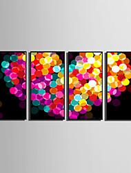 baratos -Abstrato / Fantasia Quadros Emoldurados / Conjunto Emoldurado Wall Art,PVC Preto Sem Cartolina de Passepartout com frame Wall Art