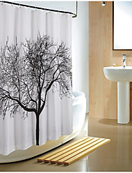 cheap -180*180cm Elegant Scenery Big Black Tree Design Waterproof Bathroom Fabric Shower Curtain