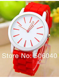 cheap -Women's Wrist Watch Hot Sale / / Silicone Band Heart shape / Casual White / One Year / Jinli 377