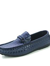 povoljno -Muškarci Cipele Umjetna koža Proljeće Jesen Mokasine Udobne cipele Natikače i mokasinke Hodanje za Kauzalni Vanjski Obala Crn Plava
