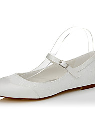 cheap -Women's Flats Spring Summer Fall Silk Wedding Dress Party & Evening Flat Heel Buckle Ivory Other